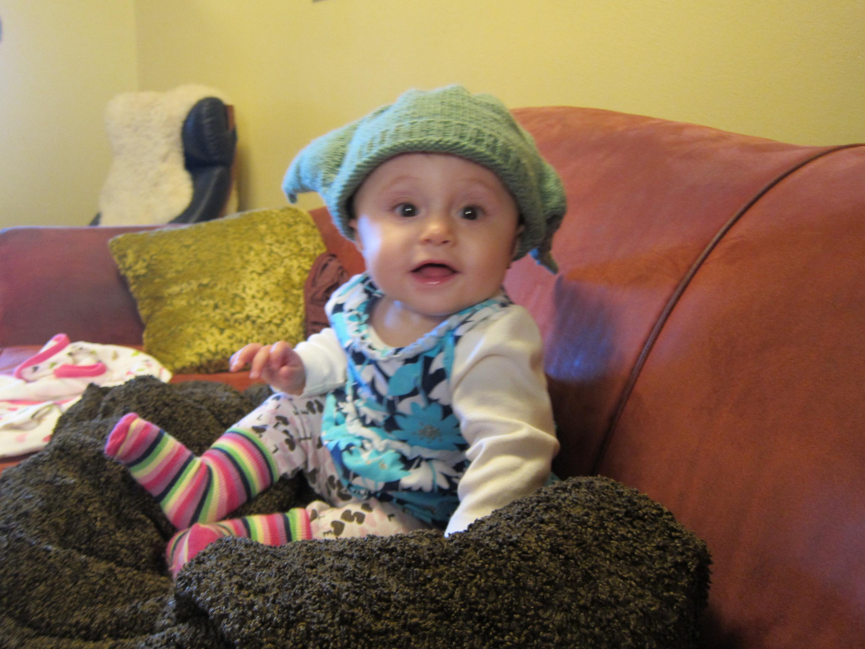 Gianna in Her Yoda Hat