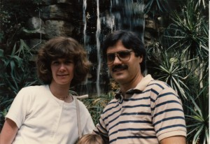 Mom and Dad on vacation in the 1980s