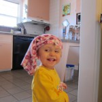 Gianna in her Pants Hat