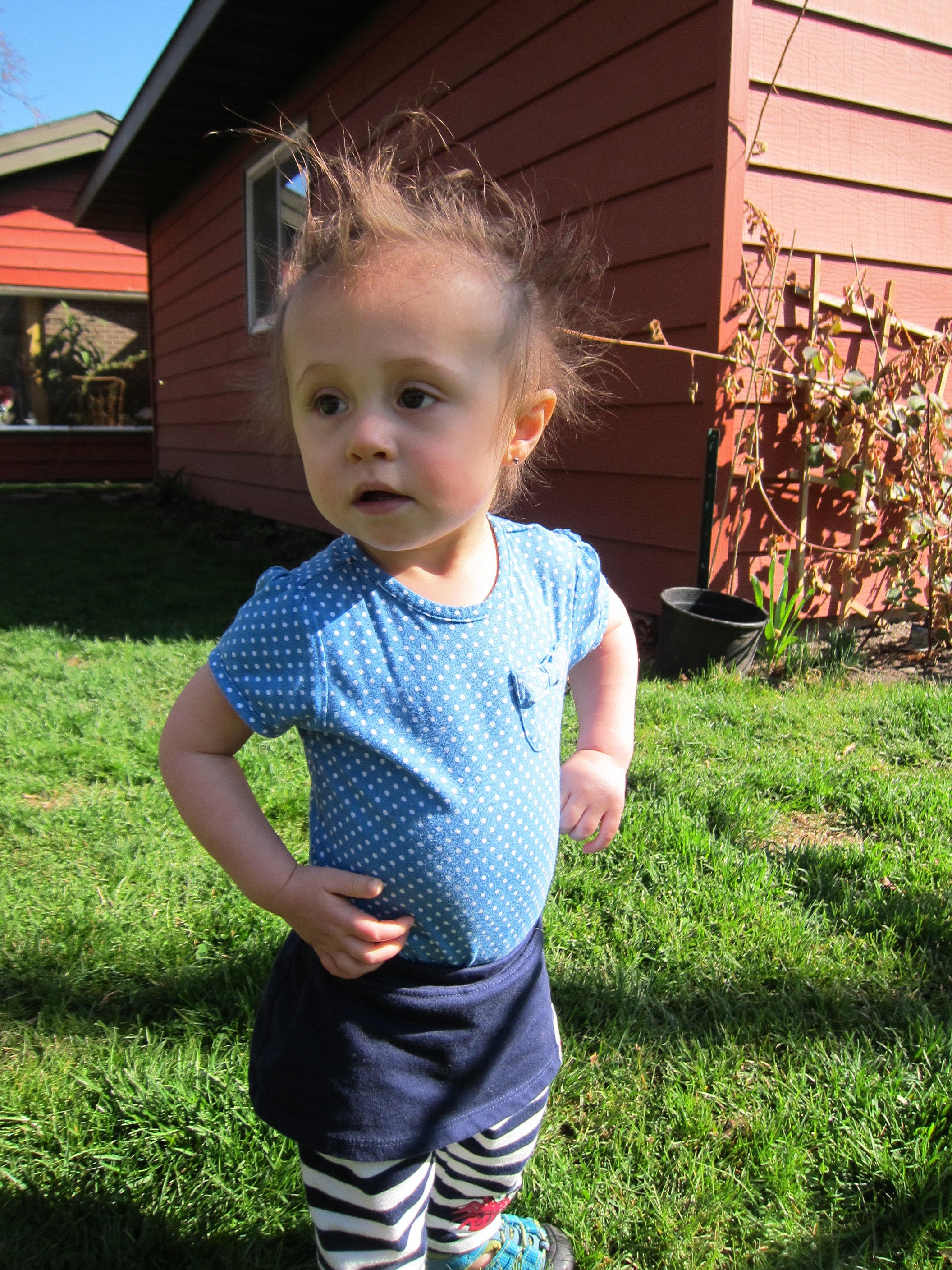 Gianna Posing Outside