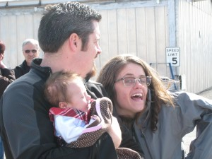 Me, Ashley and Gianna at the Polson Airport in 2011